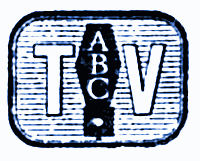Earliest logo of ABC, broadcasting network.