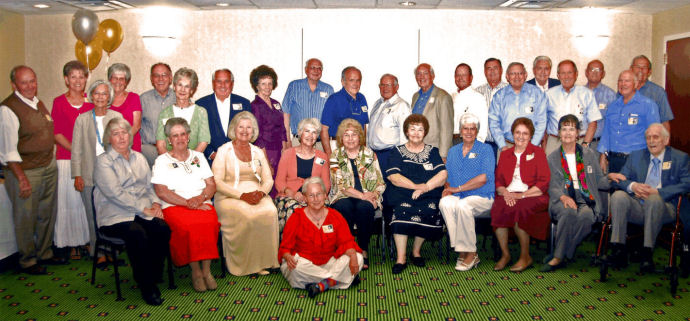 BYH Class of 1955 in July 2010 - 55 Reunion