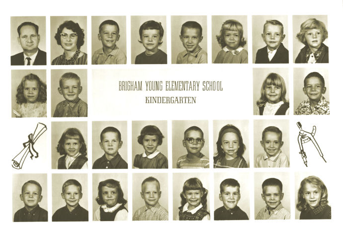 Class of 1976 in Kindergarten, BYU Training School