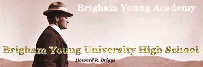 Brigham Young High Banner No.15 - 234