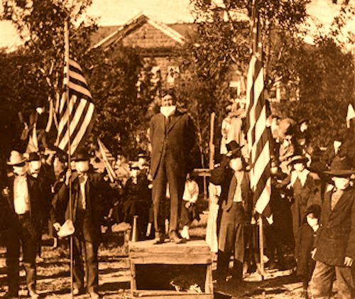 E. H. Snow speaks at 1918 Armistice in St. George